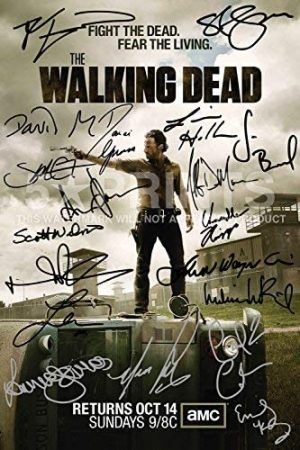 The Walking Dead Poster Photo 12x8 Pulgadas firmado