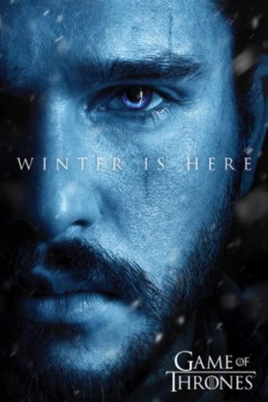 Póster Games of Thrones - Winter is Here/Jon Snow [7ma. Temporada] (61cm x 91,5cm)