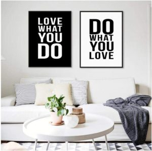 Pintura en Lienzo Frases en inglés Simple Inspirational Art Print Poster Picture Office Wall