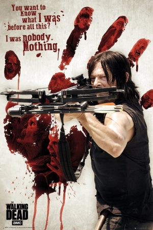 The Walking Dead Bloody Hand Daryl Poster, Madera