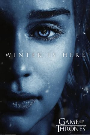 Póster Gaymes of Thrones - Winter is Here/Daenerys [7ma. Temporada] (61cm x 91,5cm) + Embalaje para Regalo